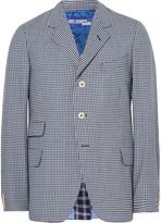 Junya Watanabe - Blue Slim-fit Checked Wool Blazer