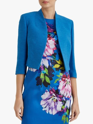 Fenn Wright Manson Caterine Cropped Tailored Jacket, Turquoise