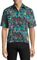 Prada Graphic-Print Short-Sleeve Sport Shirt