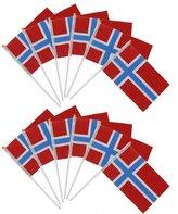 Generic 12pcs Hand Waving Norway Flags