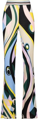 Emilio Pucci Occhi-print slim-fit trousers