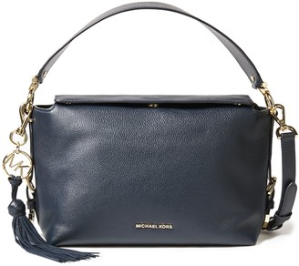 MICHAEL Michael Kors Logo-embellished Textured-leather Shoulder Bag