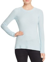Aqua Cashmere Fitted Crewneck Cashmere Sweater