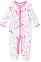 Baby Starters White & Pink Unicorn Footie - Infant