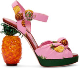 Dolce & Gabbana Pink Pineapple Sandals
