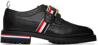 Thom Browne Black Strap Classic Longwing Brogues