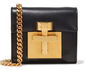 Oscar de la Renta Micro Alibi Convertible Leather Shoulder Bag