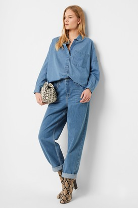 French Connection Letiz Chambray Button Through Shirt