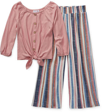 Knitworks Knit Works Girls 2-pc. Striped Pant Set Preschool / Big Kid