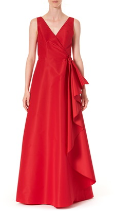 Carolina Herrera Ruffle Panel A-Line Silk Gown