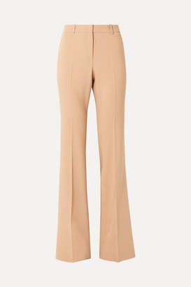 Michael Kors Stretch Wool-blend Flared Pants - Sand