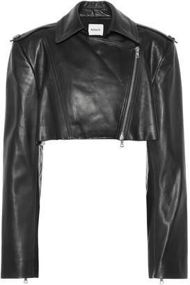 KHAITE Eduarda leather moto jacket
