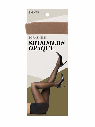 Berkshire Women's Shimmers Opaque Control Top Tights - black - Petite