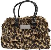 Trumpette Schleppbags Diaper Bag in Leopard Print Fur, Large