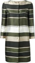 Herno stripe panel coat - women - Polyester/Acetate/Silk - 38