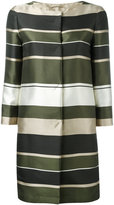 Herno stripe panel coat - women - Silk/Polyester/Acetate - 38