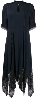 See by Chloe Key-Hole Neckline Scalloped Lace Dress