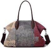 KISS GOLD(TM) Womens Casual Canvas Shoulder Bag Hobo Tote Top Handle Bag