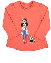 Little Marc Little Miss Marc Cotton-Modal T-Shirt-RED