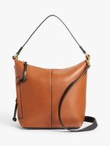 And/Or AND/OR Compact Zip Top Leather Hobo Bag