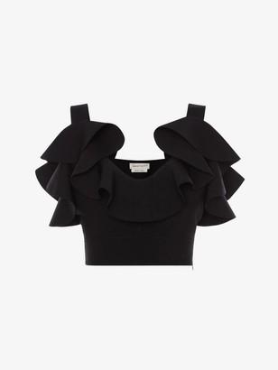 Alexander McQueen Engineered Sculpted Knit Top