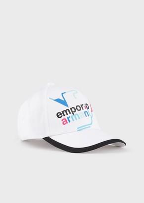 Emporio Armani Baseball Cap With Embroidered Logo