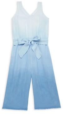 Bella Dahl Little Girl's & Girl's Skylline Ombre Dye Belted Jumpsuit