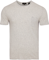 Oxford Marty Linen Blend T-Shirt Nvy/Wht X