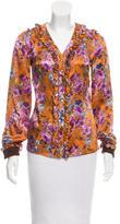 Dolce & Gabbana Floral Silk Button-Up w/ Tags