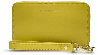 Holly & Tanager Champion Zip Around Leather Wallet In Yellow