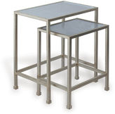 Port 68 S/2 Peyton Nesting Tables, Silver Leaf