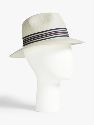 Christy Christys' Down Brim Panama Hat, White