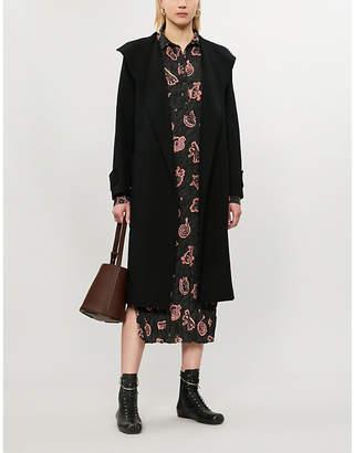 Joseph Lista wool-blend wrap coat