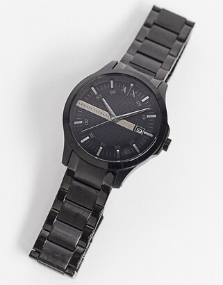 Armani Exchange AX2104 Hampton bracelet watch in black