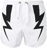 Neil Barrett Lightning Bolt swim shorts - men - Polyester - S