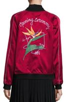 Opening Ceremony L.A. Reversible Silk Embroidered Varsity Jacket