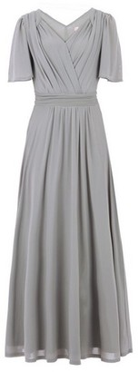 Dorothy Perkins Womens Jolie Moi Grey Flute Sleeve Maxi Dress, Grey
