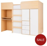 Kidspace Miami Mid-Sleeper Bed And Desk And Storage