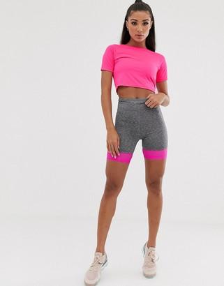 Asos 4505 4505 short sleeve top in neon