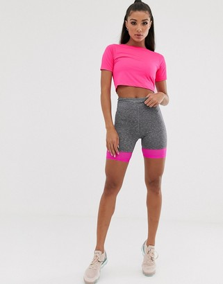 Asos 4505 short sleeve top in neon