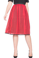 ELOQUII Plus Size Studio Circle Eyelet Lace Skirt