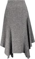 Stella McCartney Hayley asymmetric wool-tweed midi skirt