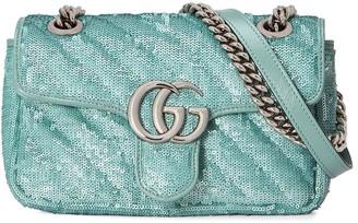 Gucci GG Marmont sequinned shoulder bag