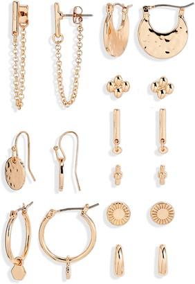 BP 9-Pair Set of Goldtone Earrings