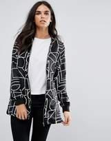 Vero Moda Printed Zip Through Shirt