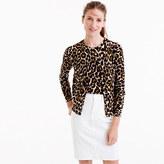 J.Crew Lightweight wool Jackie cardigan sweater in leopard