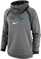 Nike Women's Heathered Charcoal Michigan State Spartans Winter Performance Pullover Hoodie