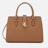 Lauren Ralph Lauren Women's Carrington Brigitte II Satchel - Field Brown