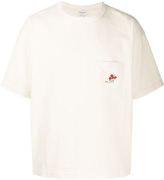 YMC embroidered chest pocket T-shirt