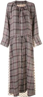 Pattern-Mix Maxi Dress